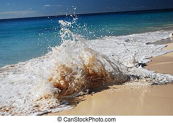 crashing wave - wave crashing on the beach