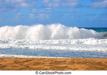 Crashing Waves at Polihale Beach State Park Kauai