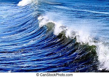 Crashing Waves - Crashing Blue Waves on the Pacific Ocean
