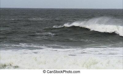 Crashing waves on an Irish ocean