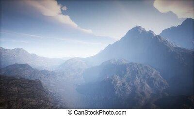 cratère, brouillard, paysage, volcan