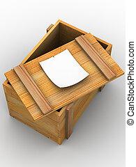 crate., 3d