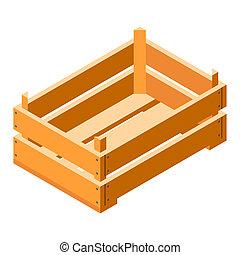 Crate icon, isometric style