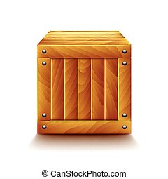 Crate isolated on white vector