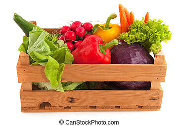 Crate vegetables