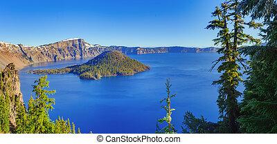 crater 湖, 光景