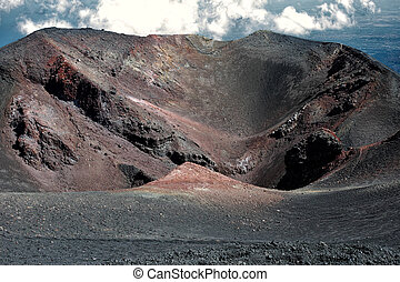 Crater in Mount Etna