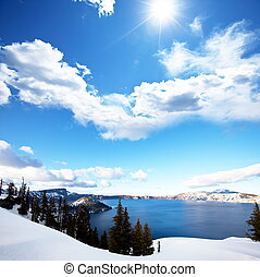 Crater lake in USA