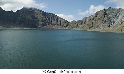 Crater Lake Pinatubo, Philippines, Luzon. - Aerial view...