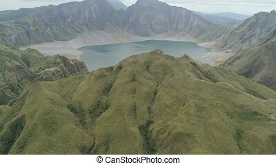 Crater Lake Pinatubo, Philippines, Luzon. - Crater lake of...