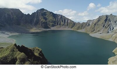 Crater Lake Pinatubo, Philippines, Luzon. - Crater lake...