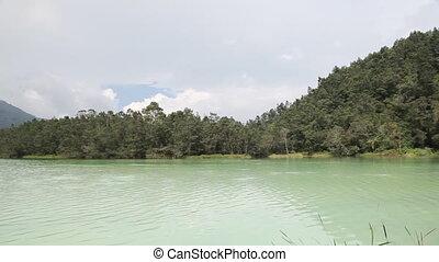 "Crater lake - Indonesia, Java , Dieng Plateau, \\\""Telaga..."