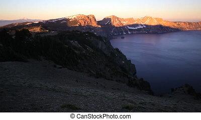 Crater Lake - Sunrise at Crater Lake National Park, Oregon,...