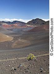 cratera, haleakala, maui, havaí