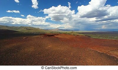 Amazing volcanic landscape at Craters of the Moon National Monument of Idaho.