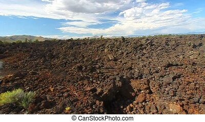 Landscape of Craters of the Moon National Monument in Idaho.