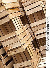 Crates - Wooden crates in a market