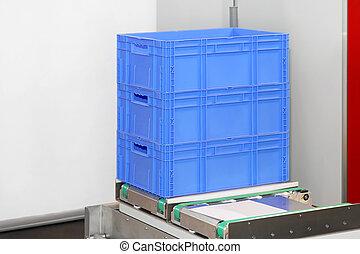 crates, plástico