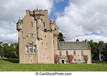 Crathes Castle in Scotland - Medieval castle and grounds on...