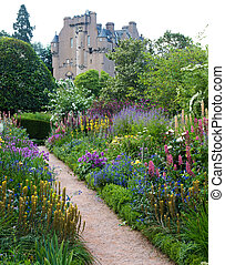 Crathes Castle in Scotland - Medieval Scottish castle set in...