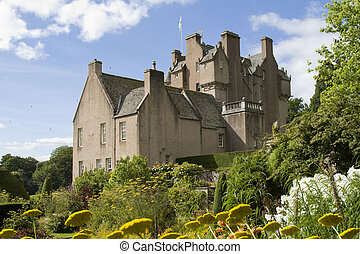 Crathes Castle in Scotland - Medieval castle and gardens on...