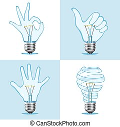 Crative light bulb collection