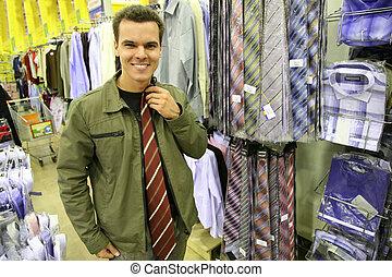 cravate, achat, homme
