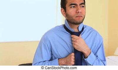 cravate, attachement, sien, homme affaires