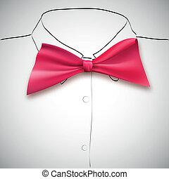 cravate, croquis, chemise, fond, arc