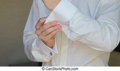cravate, cufflinks, boutonniere, usures, palefrenier