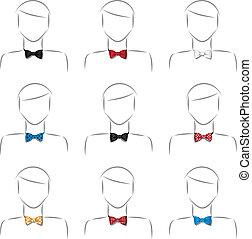 cravate, ensemble, arc