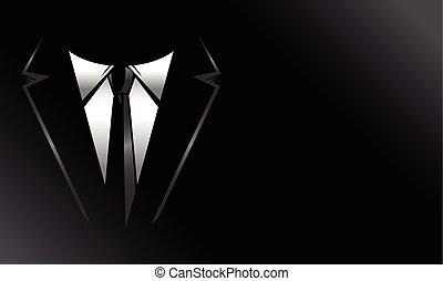 cravate, formel, complet, business, &
