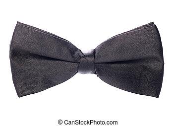 cravate, noir, arc