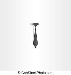 cravate, vecteur, conception, icône, noir
