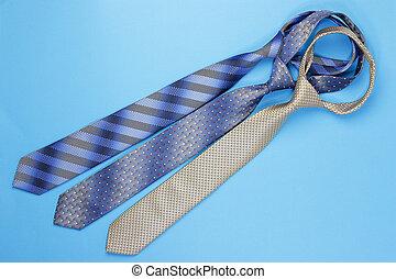 cravates, groupe, coloré
