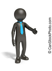 cravatta blu, nero, uomo affari