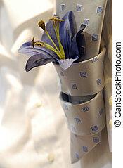 cravatta, e, fiore
