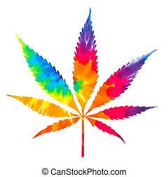 cravatta, marijuana, tinta