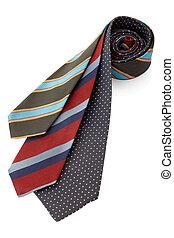 cravatta, o, cravatta, set