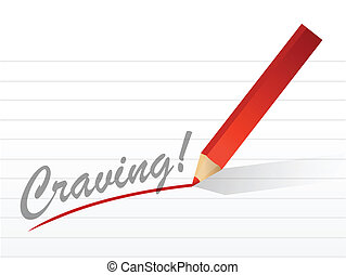 craving written on a white piece of paper - craving written...