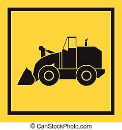 craw, trator, escavador, escavadora