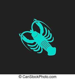 crawfish flat icon