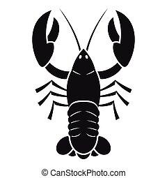 Crawfish icon. Simple illustration of crawfish vector icon for web