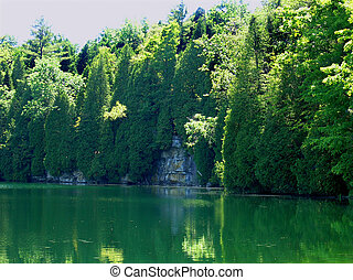 Crawford lake - The small deep and cold lake in the hearth ...