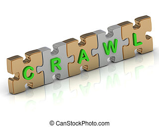 CRAWL word of gold puzzle