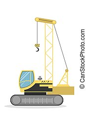 crawler, crane., isolado