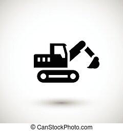 crawler, escavador, ícone