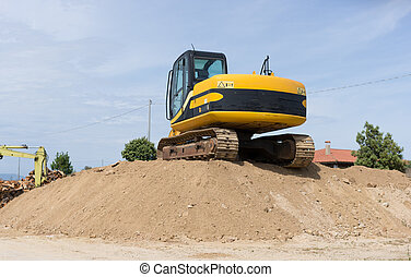 Crawler Excavator - Crawler excavator. Construction machine ...