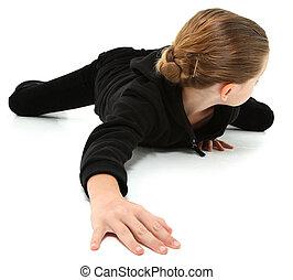 Crawling Away 7 Year Girl