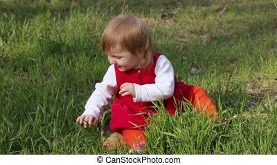 Crawling year-old child